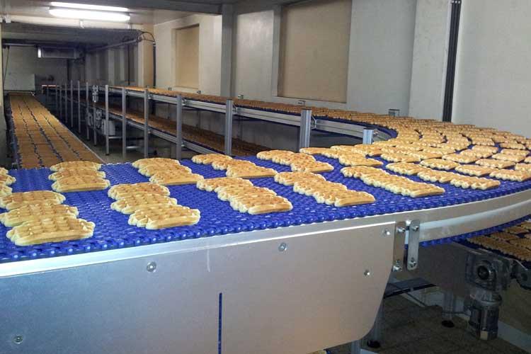Moduleband transporteur wafels
